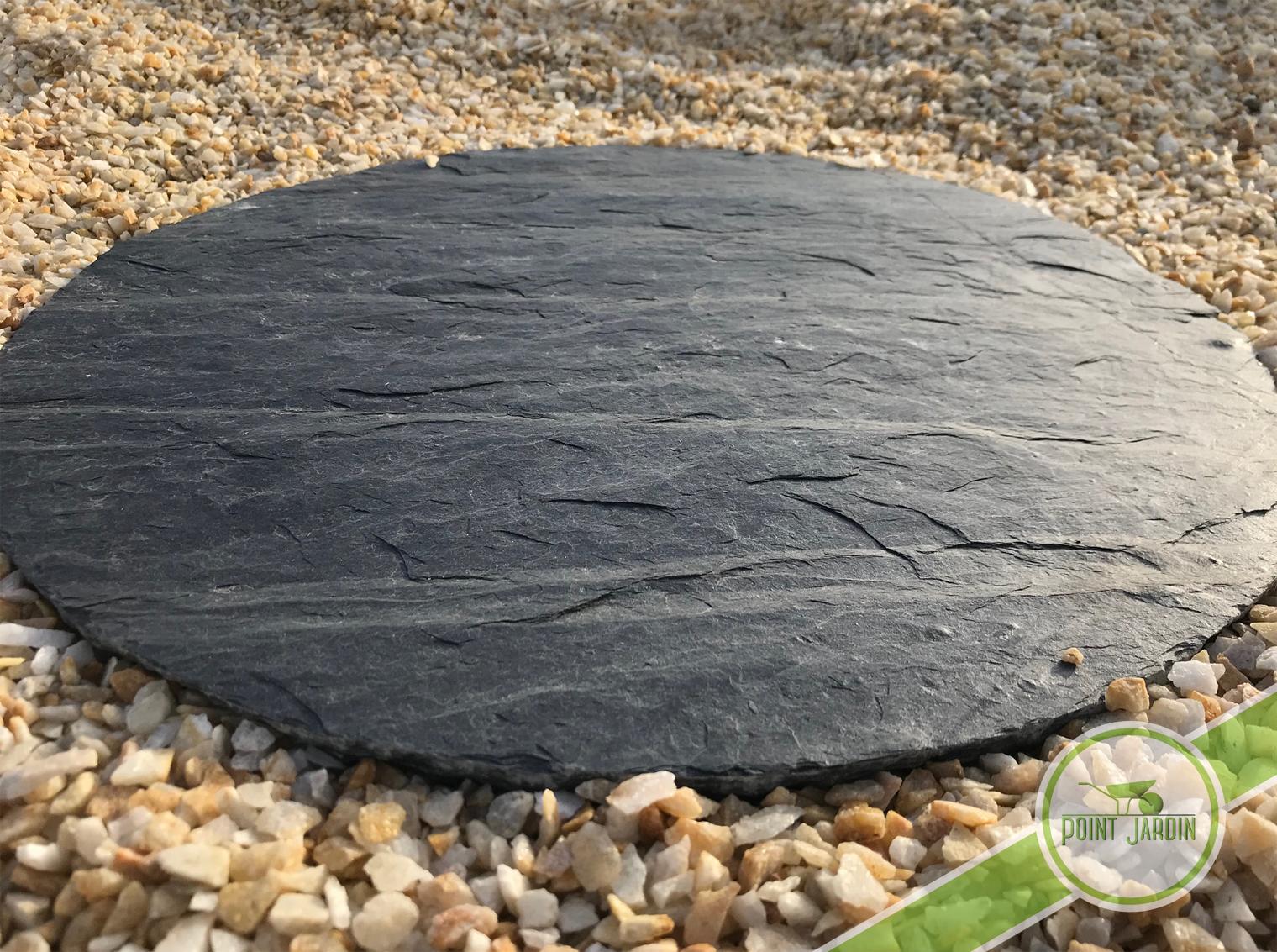 pas japonais rond ardoise naturelle point jardin livraison paris rouen dreux. Black Bedroom Furniture Sets. Home Design Ideas