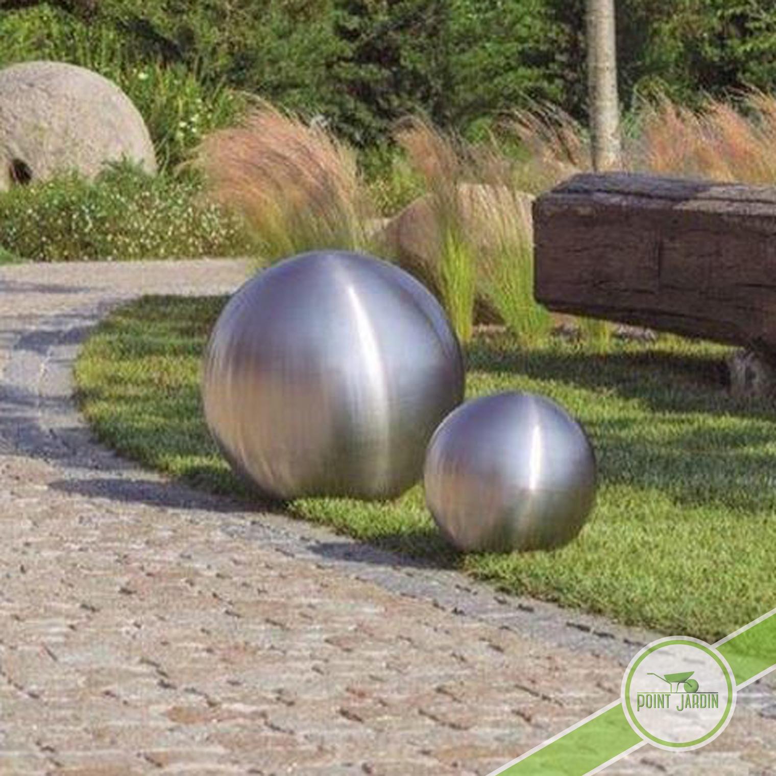 Boule inox d coration jardin point jardin Boule jardin deco