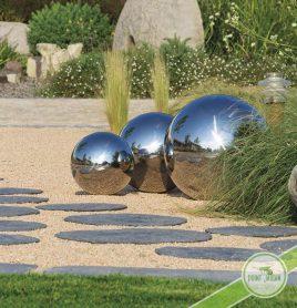 sphere boule inox jardin