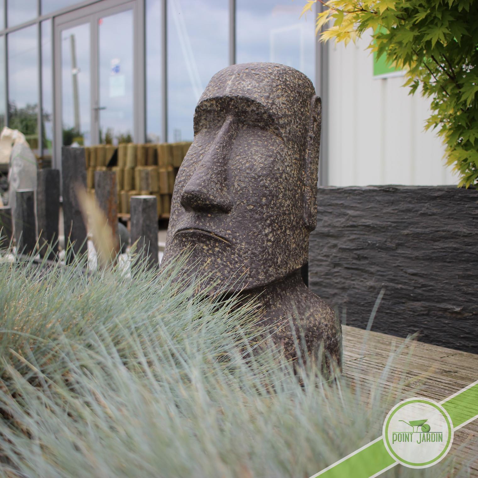 Statue moai pour d coration zen pour jardin point jardin for Statue de jardin zen