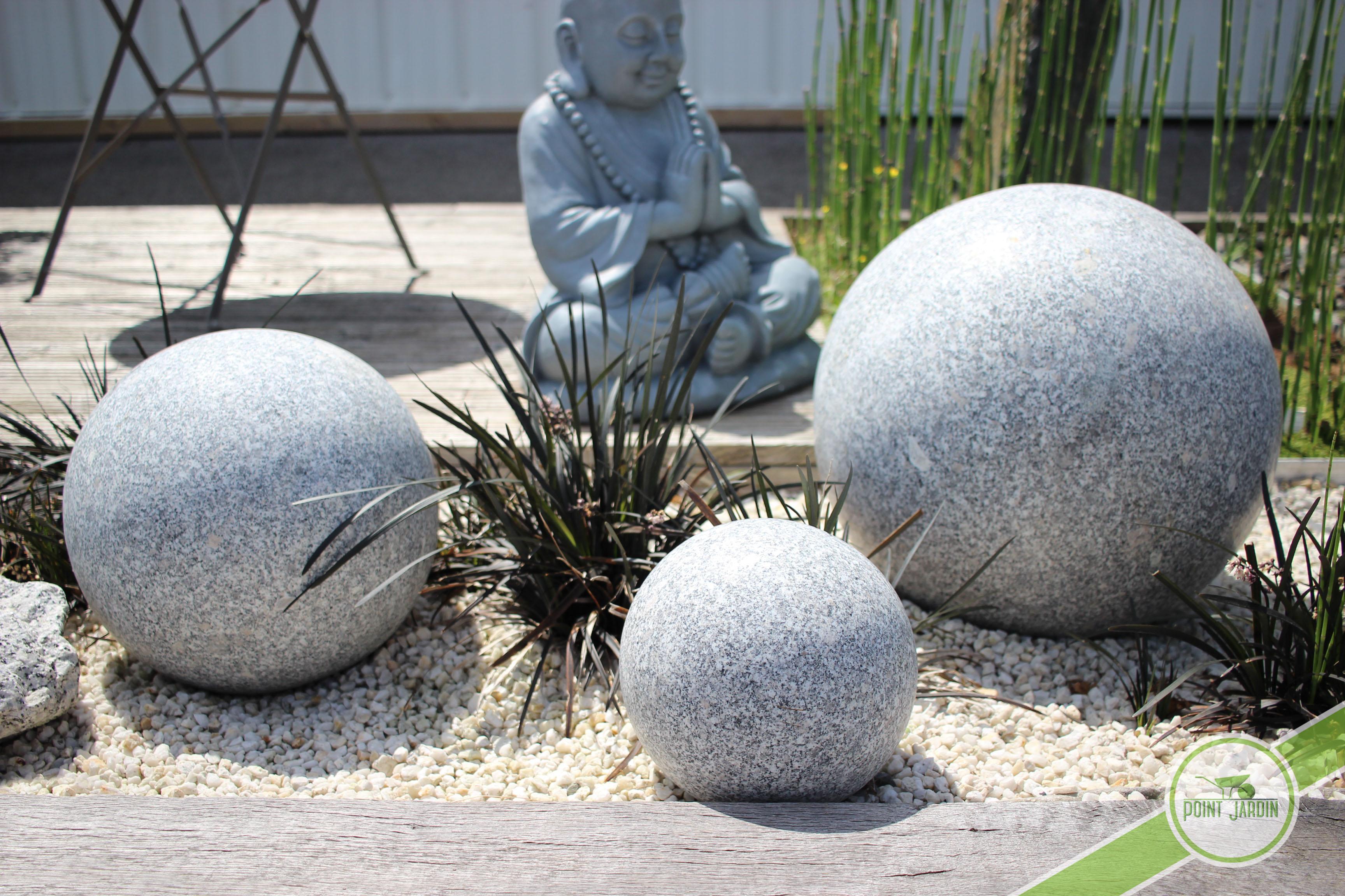 Boule granit pour d coration design pour votre jardin Boule jardin deco